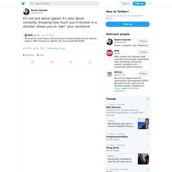 Daniel Stander on Twitter