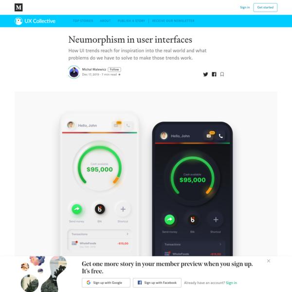 Neumorphism in user interfaces
