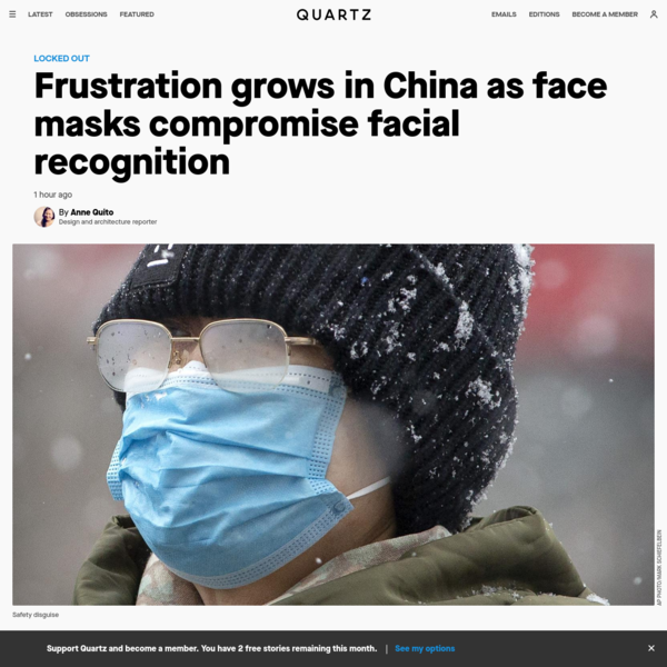 Frustration grows in China as face masks compromise facial recognition