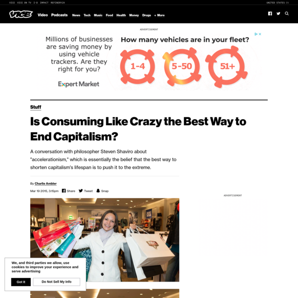 Is Consuming Like Crazy the Best Way to End Capitalism?