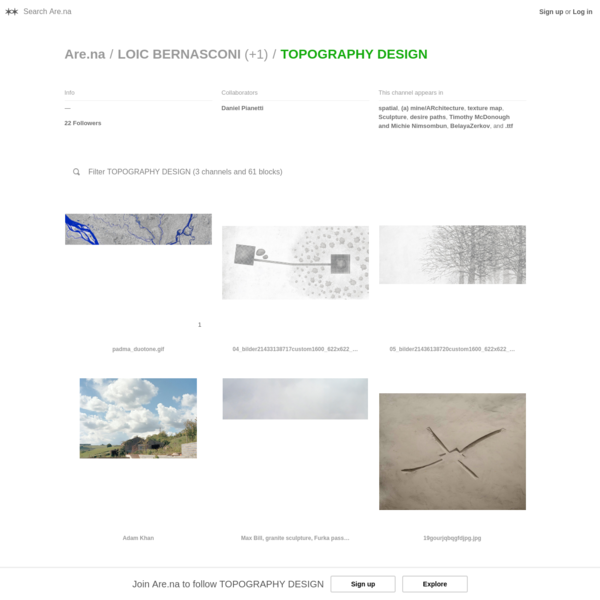 Are.na / TOPOGRAPHY DESIGN