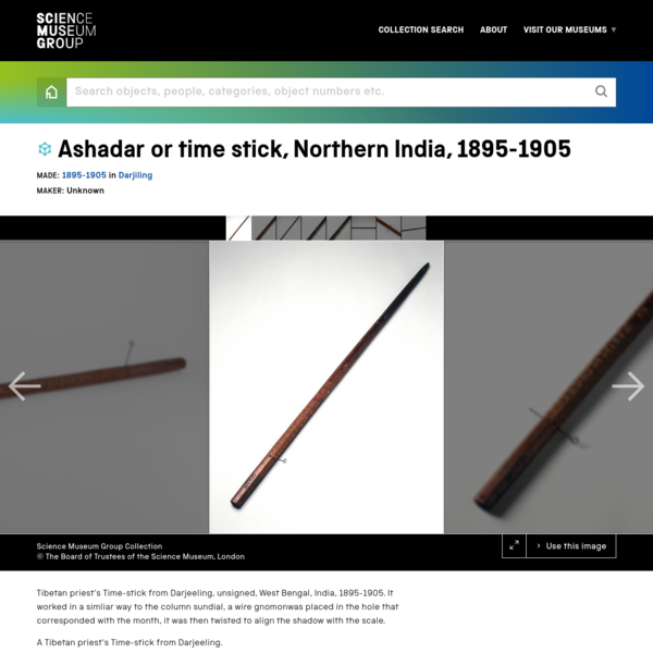 Ashadar or time stick, Northern India, 1895-1905 | Science Museum Group Collection