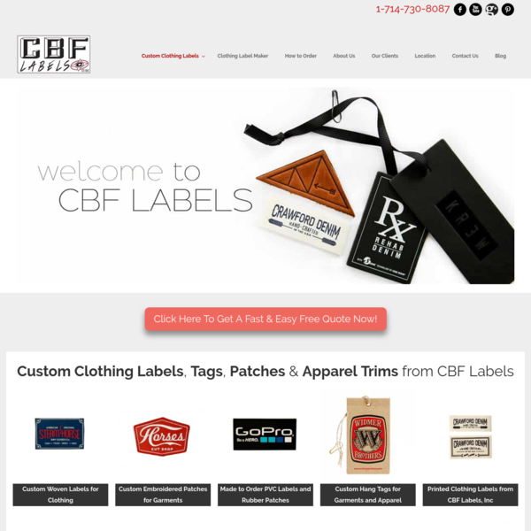 Custom Clothing Labels, Tags, Patches & Apparel Trims