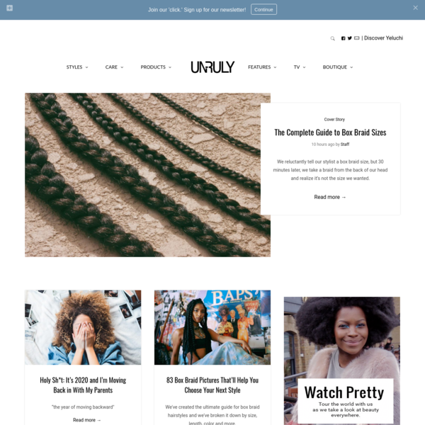 Un-ruly, a Place for Black Hair and Women