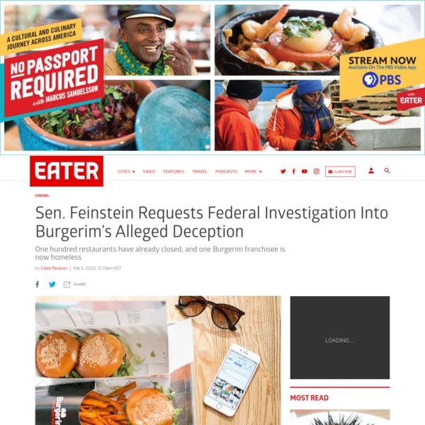 Sen. Feinstein Requests Federal Investigation Into Burgerim's Alleged Deception