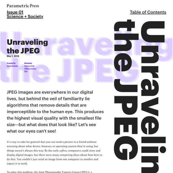 Unraveling The JPEG
