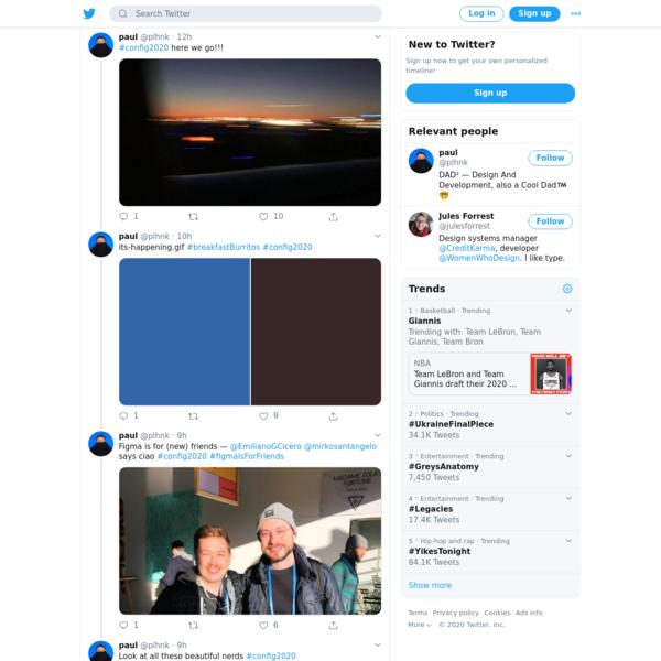 paul on Twitter