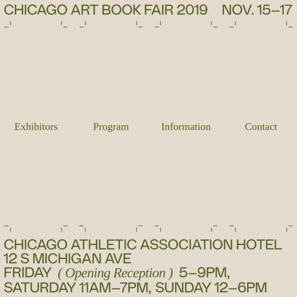 Chicago Art Book Fair 2019 - Home