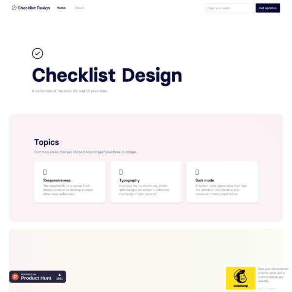 Checklist Design - best UI elements for the best UX practice
