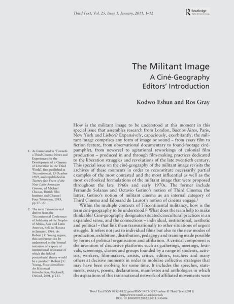 The Militant Image. Kodwo Eshun & Ros Gray