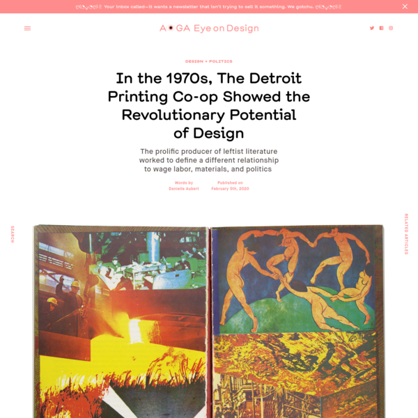 In the 1970s, The Detroit Printing Co-op Showed the Revolutionary Potential of Design