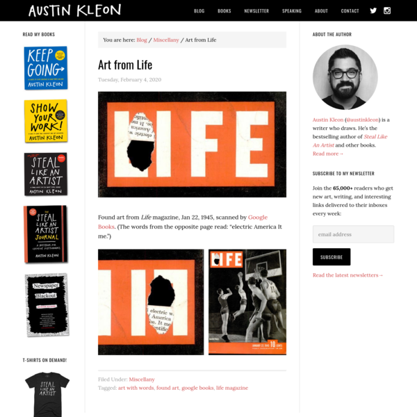 Art from Life - Austin Kleon