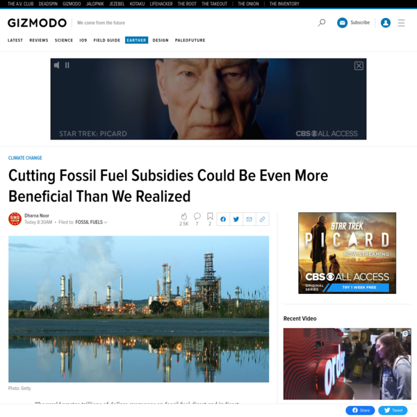 Cutting Fossil Fuel Subsidies Could Be Even More Beneficial Than We Realized