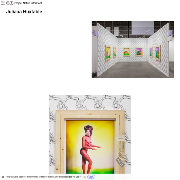 Project Native Informant - Juliana Huxtable