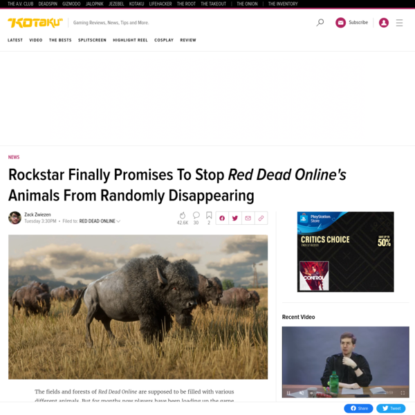 Rockstar Finally Promises To Stop Red Dead Online's Animals From Randomly Disappearing