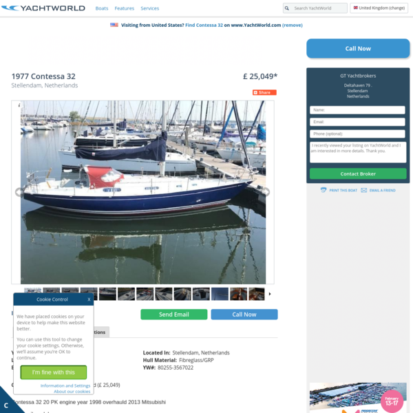 1977 Contessa 32 Sail New and Used Boats for Sale - www.yachtworld.co.uk