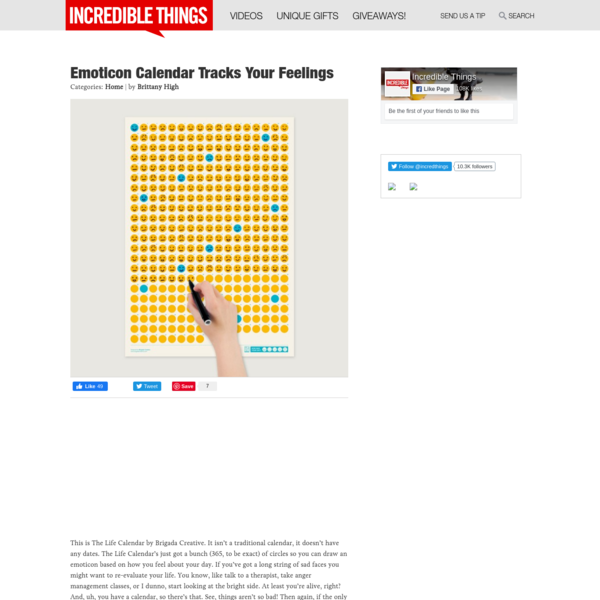 Emoticon Calendar Tracks Your Feelings | Incredible Things