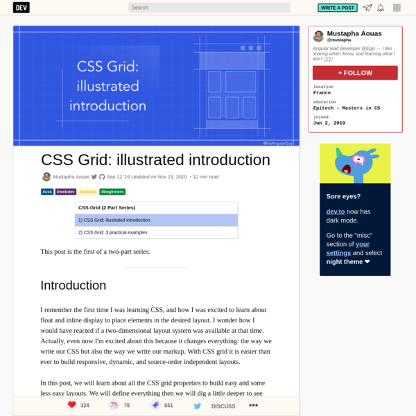 CSS Grid: illustrated introduction - DEV Community 👩💻👨💻