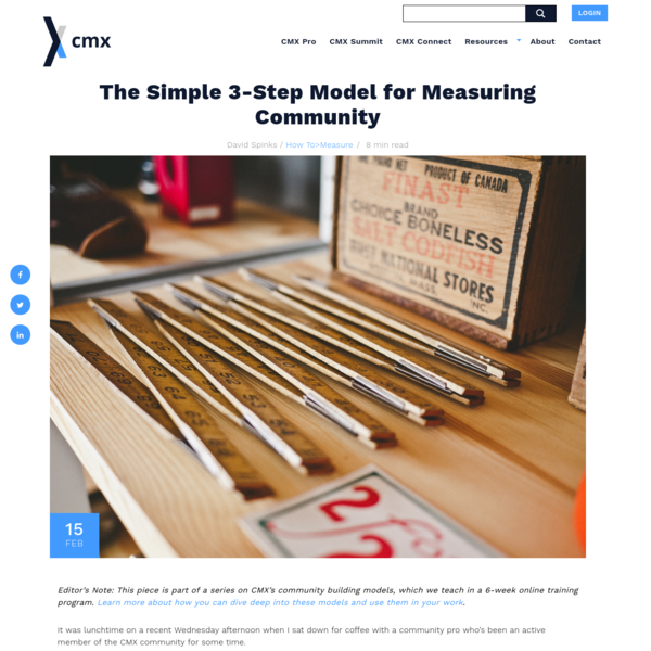 Simple Community Measurement Model