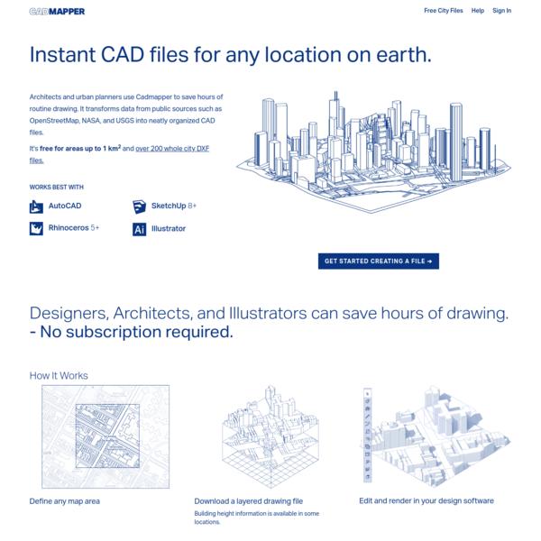 CADMAPPER - Worldwide map files for any design program