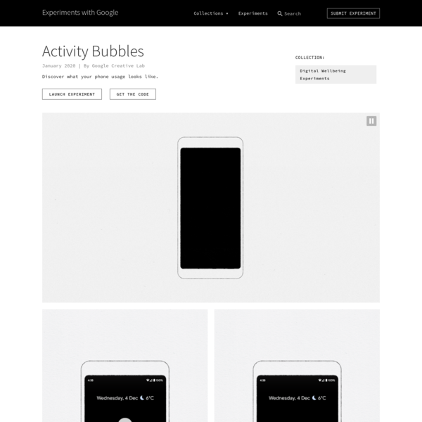 Activity Bubbles by Google Creative Lab | Experiments with Google