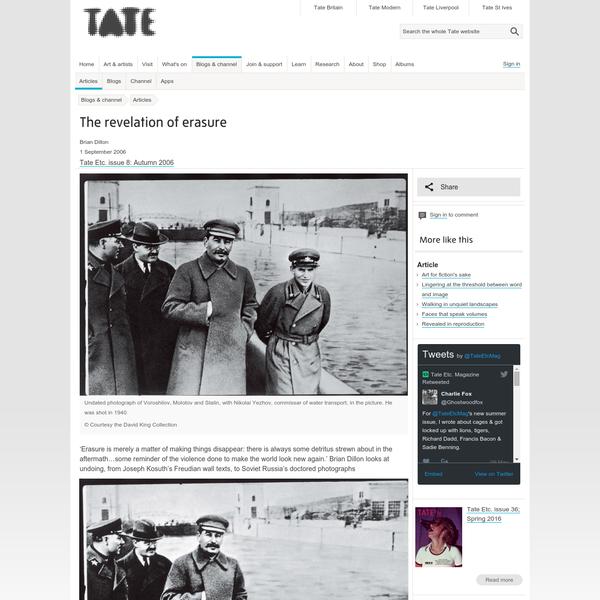 The revelation of erasure   Tate