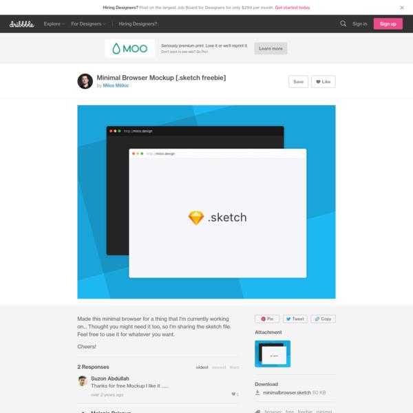 Minimal Browser Mockup [.sketch freebie]