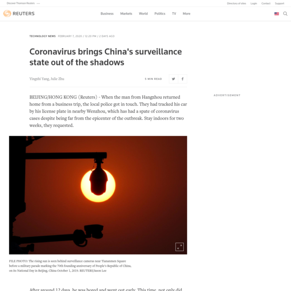 Coronavirus brings China's surveillance state out of the shadows