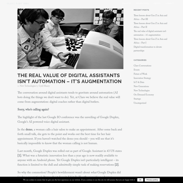 Claro Partners - The real value of digital assistants isn't automation - it's augmentation