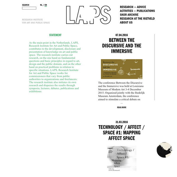LAPS   Research Institute for Art and Public Space