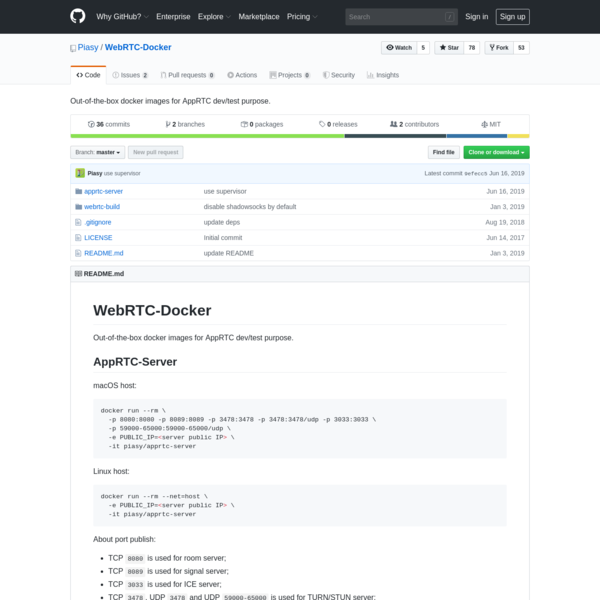 Piasy/WebRTC-Docker