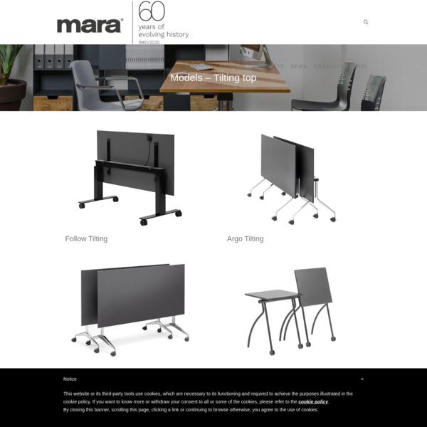 Models - Tilting top - Mara Srl