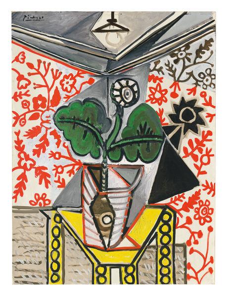 Pablo Picasso, Intérieur au pot de fleurs, 1953