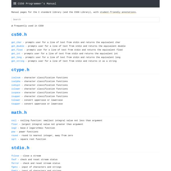 CS50 Programmer's Manual