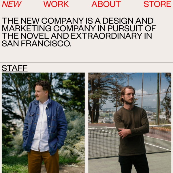 THE NEW COMPANY - ABOUT