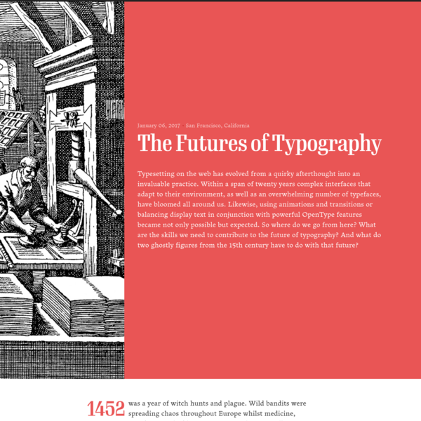 The Futures of Typography