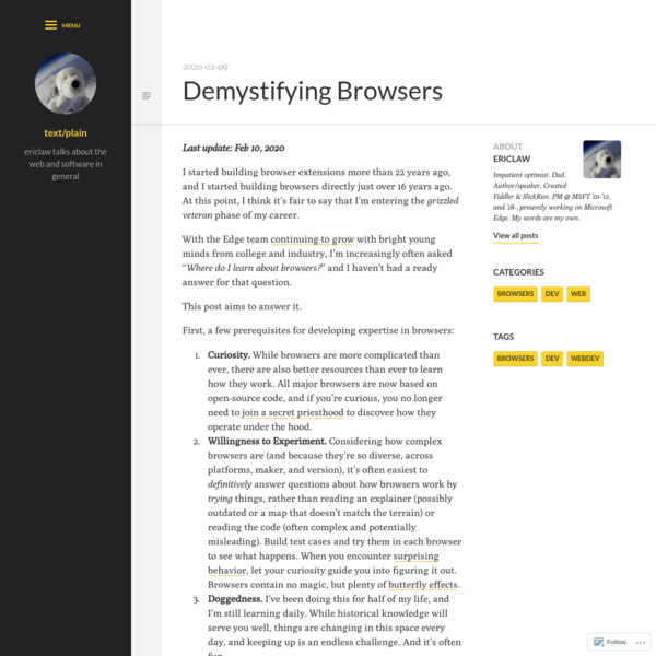 Demystifying Browsers