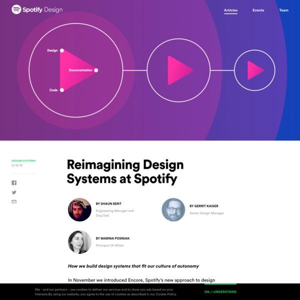 Reimagining Design Systems at Spotify