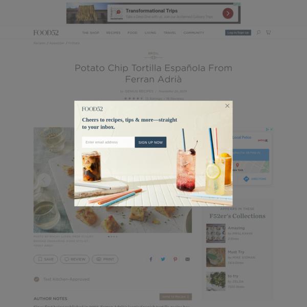 Potato Chip Tortilla Española From Ferran Adrià Recipe on Food52