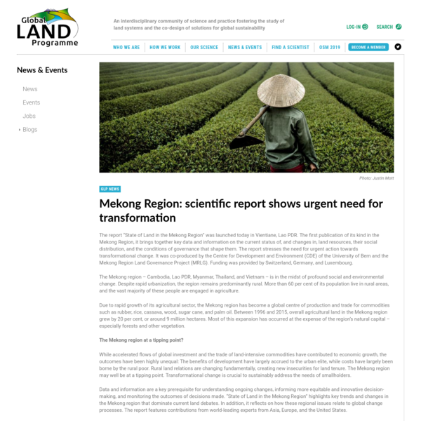 Mekong Region: scientific report shows urgent need for transformation