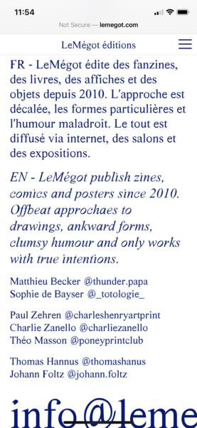 LeMégot éditions
