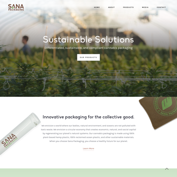 Sana Packaging | Sustainable Packaging Solutions | Cannabis Packaging