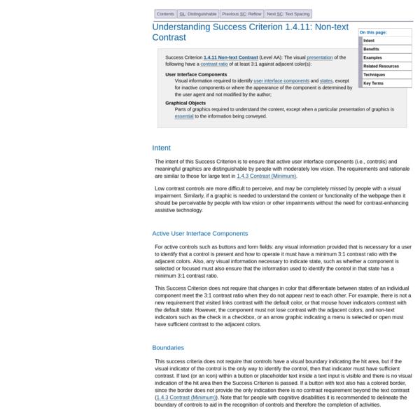 Understanding Success Criterion 1.4.11: Non-text Contrast