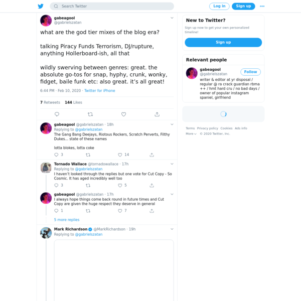 gabeagool on Twitter