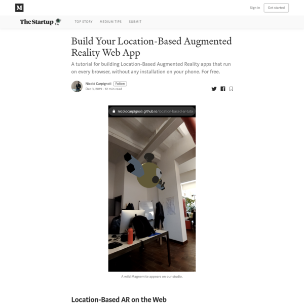 Build Your Location-Based Augmented Reality Web App