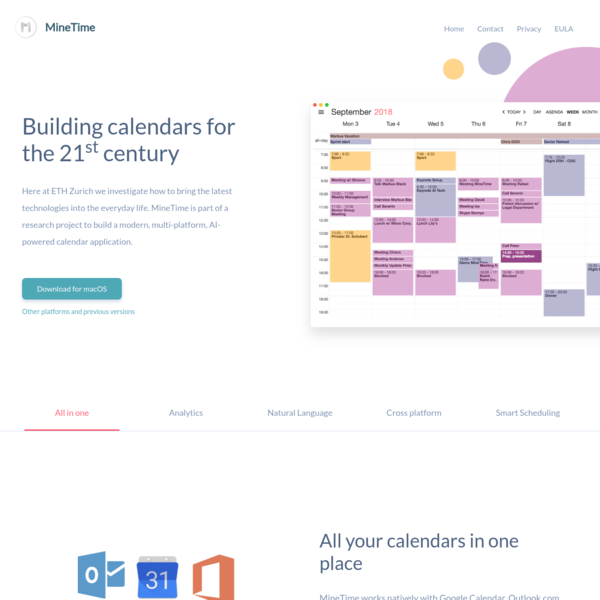 MineTime | Get your new calendar for Win, Mac and Linux