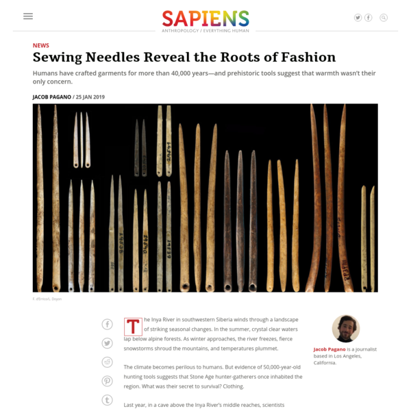 Fashion History - Sewing Needles Reveal the Roots of Fashion - SAPIENS