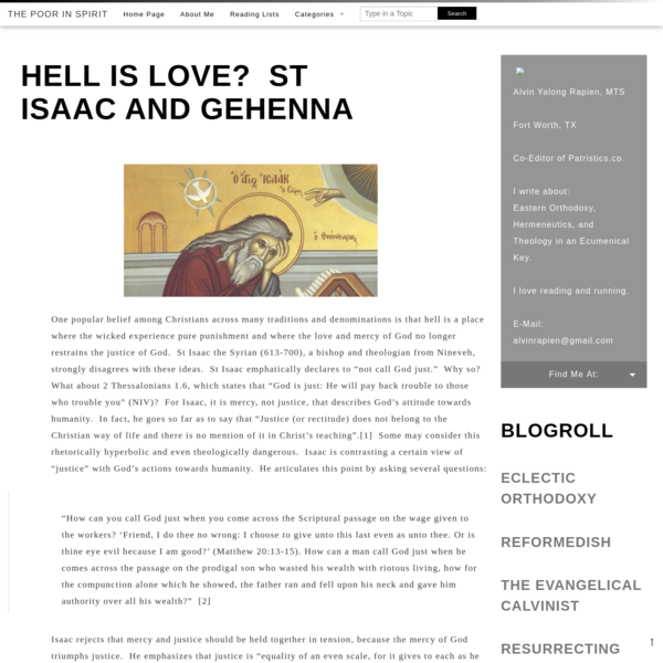 Hell is Love? St Isaac and Gehenna