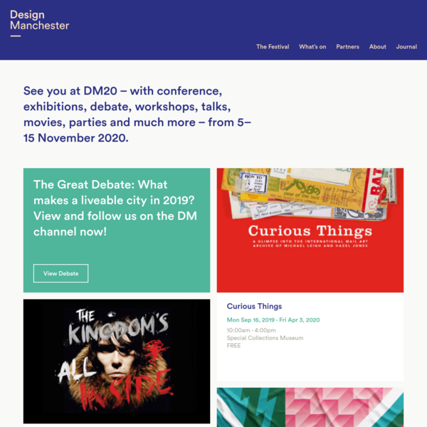Design Manchester - Manchester's annual city-wide festival of design