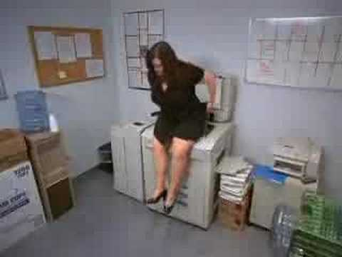 Copier Commercial - Accuserv, Chunky girl gets insulted by Xerox machine.